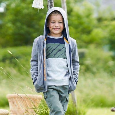 Kinder-Jungen-Jacke mit Kapuze