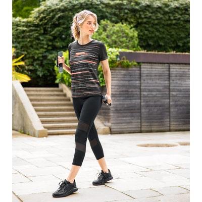 Damen-Fitnesshose mit Mesh-Einsätzen