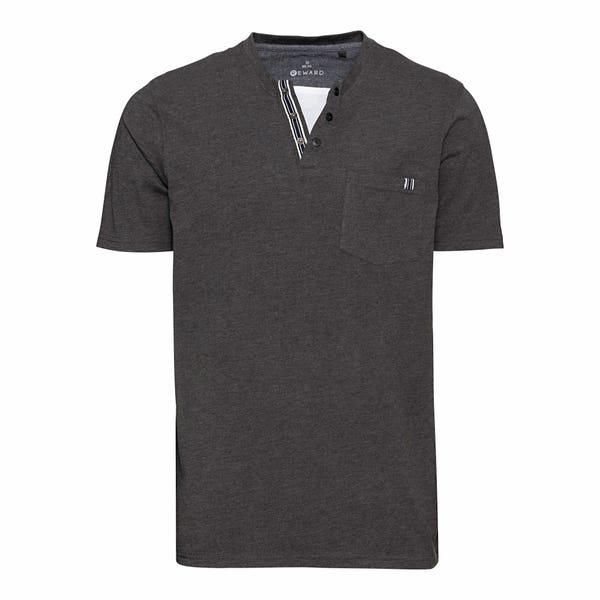 Herren-T-Shirt in Melage-Optik