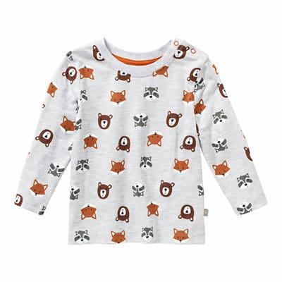 Baby-Jungen-Shirt mit Waldtier-Muster