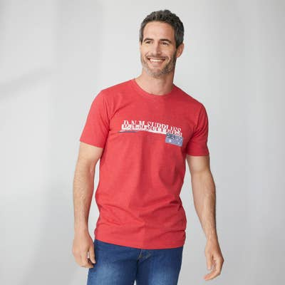 Herren-T-Shirt mit Frontaufdruck