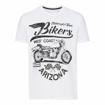 Herren-T-Shirt mit Biker-Frontaufdruck