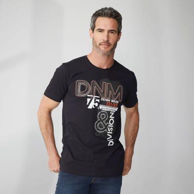 Herren-T-Shirt mit trendigem Frontaufdruck