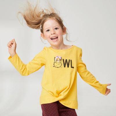Mädchen-Shirt mit Pailletten-Eule