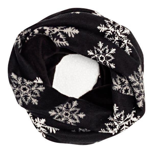 Damen-Loop-Schal mit Fleece-Innenfutter
