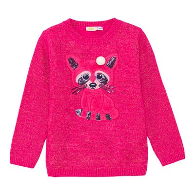 Mädchen-Pullover mit Fuchs-Applikation