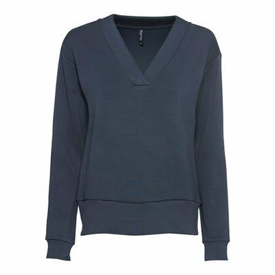 Damen-Sweatshirt mit V-Ausschnitt