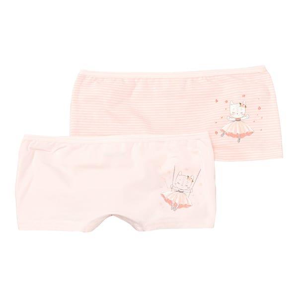 Mädchen-Panty mit niedlichem Katzen-Motiv, 2er-Pack