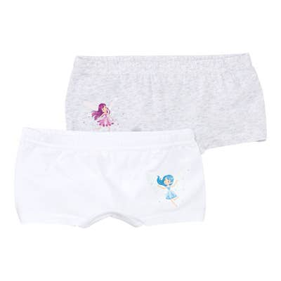 Mädchen-Panty mit Feen-Aufdruck, 2er-Pack