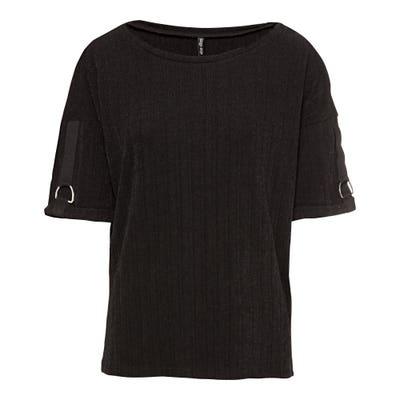 Damen-Shirt mit Ripp-Ware