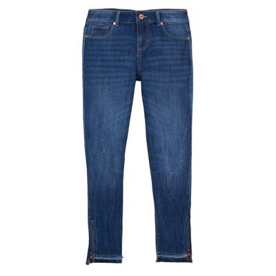 Damen-Jeans, ausgefranster Look