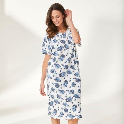 Damen-Nachthemd mit Blütendesign