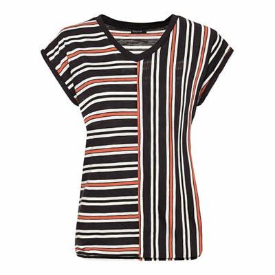 Damen-T-Shirt mit stylischem Streifendesign