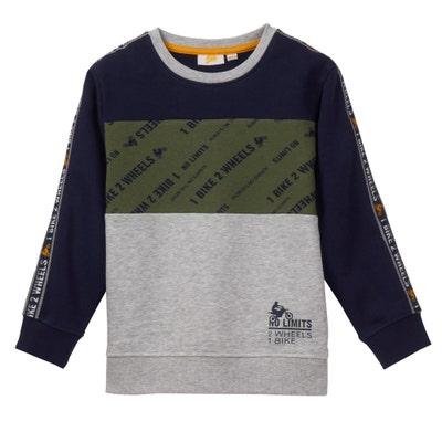Kinder-Jungen-Sweatshirt im Block-Design