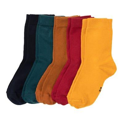 Damen-Socken in herbstlichen Farben, 5er-Pack