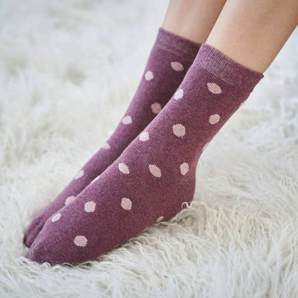 Damen-Frottee-Socken mit ABS-Noppen, 2er-Pack