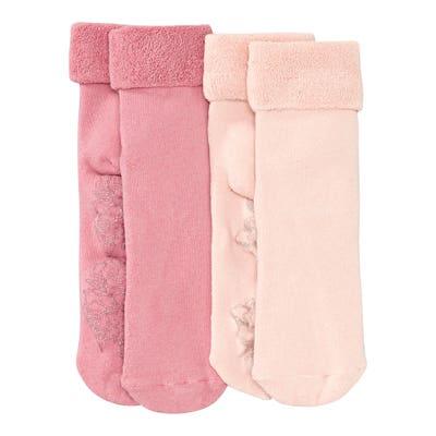 Damen-Frottee-Socken mit ABS-Sohle, 2er-Pack