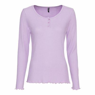 Damen-Shirt mit Waffel-Rib