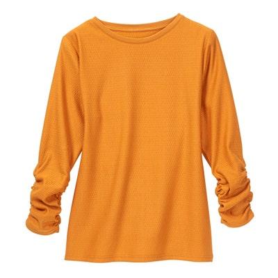 Damen-Shirt mit elastischer Raffung