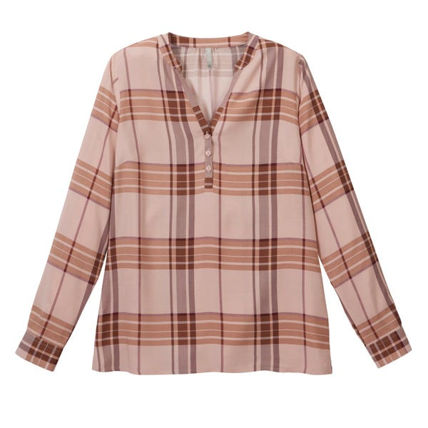 Damen-Bluse mit Karomuster