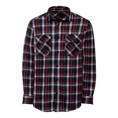 Herren-Fleece-Hemd mit Karomuster