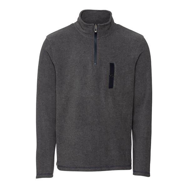 Herren-Fleece-Sweatshirt mit Troyer-Kragen