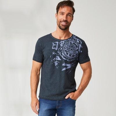Herren-T-Shirt mit trendigem Aufdruck