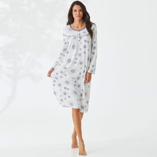 Damen-Nachthemd mit toller Raffung
