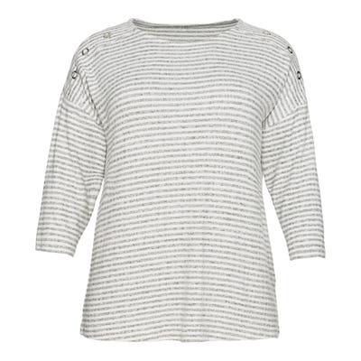 Damen-Sweatshirt mit Zierknöpfen, große Größen