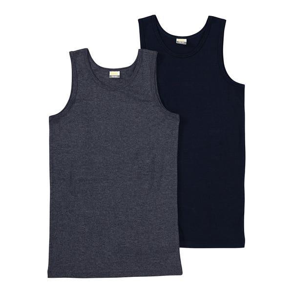 Jungen-Unterhemd in Ripp-Optik, 2er-Pack