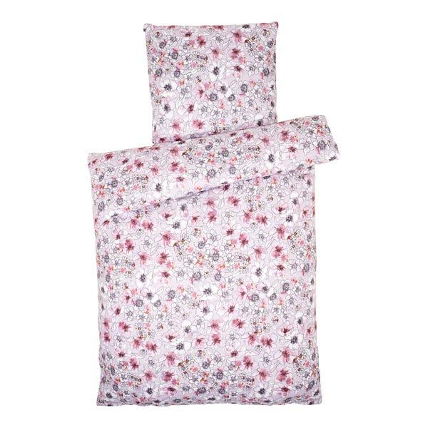 Biber-Bettwäsche mit kleinen Mohnblumen