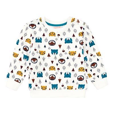 Baby-Jungen-Sweatshirt mit Wald-Motiv