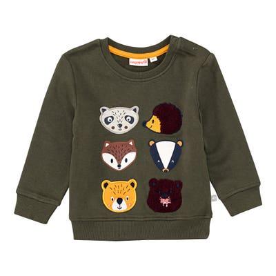 Baby-Jungen-Sweatshirt mit Waldtier-Applikationen
