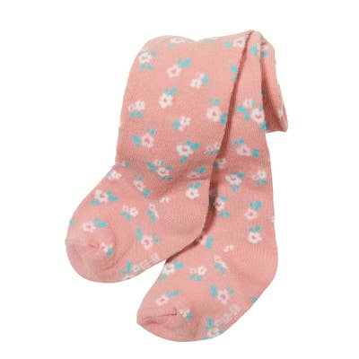 Baby-Mädchen-Strumpfhose mit Blümchen-Muster