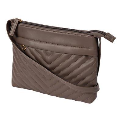 Damen-Handtasche mit Stepp-Muster, ca. 23x18cm