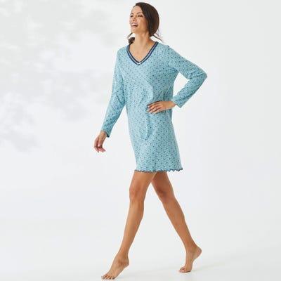 Damen-Nachthemd mit hübscher Spitzkante