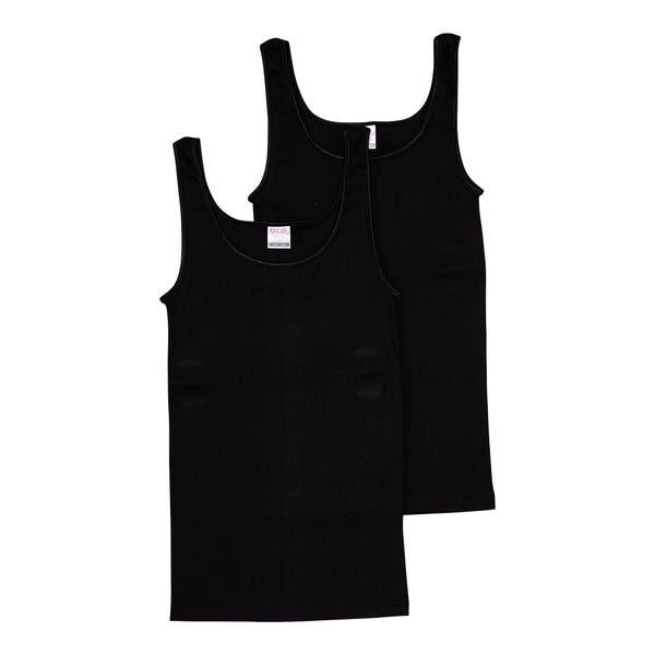 Damen-Unterhemd aus reiner Baumwolle, 2er-Pack