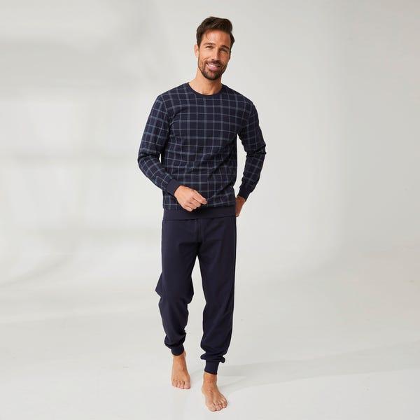 Herren-Schlafanzug im Karo-Design, 2-teilig