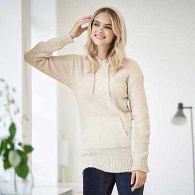 Damen-Pullover mit Kängurutasche