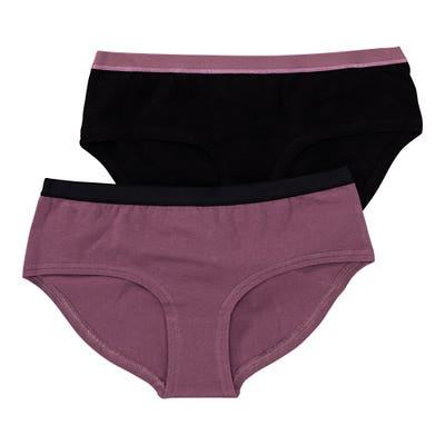 Damen-Panty mit schlichtem Kontrastband, 2er-Pack