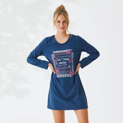 Damen-Nachthemd mit großem Aufdruck