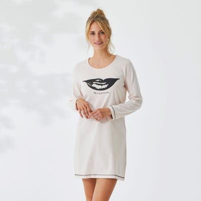 Damen-Nachthemd mit Kussmund