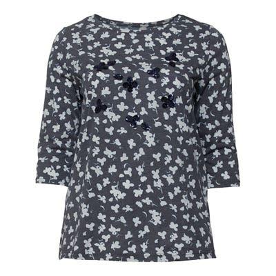 Damen-Shirt mit Pailletten, große Größen
