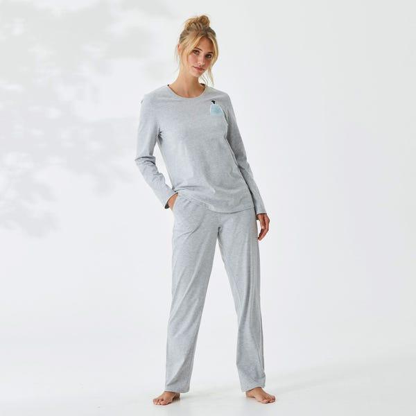 Damen-Schlafshirt mit Pinguin-Motiv, Mix&Match