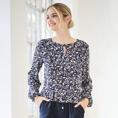 Damen-Bluse mit Rüschenärmeln