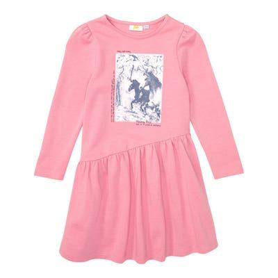 Kinder-Mädchen-Kleid mit Pferde-Motiv