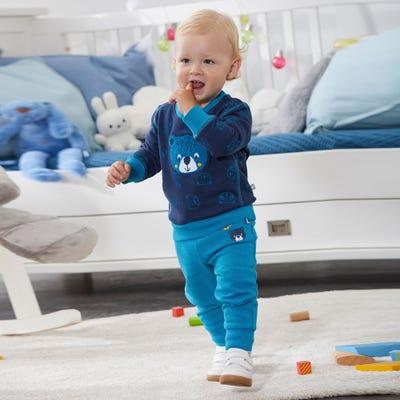 Baby-Jungen-Set mit Bären-Aufdruck, 2-teilig