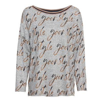 Damen-Sweatshirt mit Schriftzug-Muster