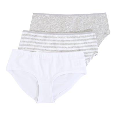 Damen-Panty mit Streifenmuster, 3er-Pack