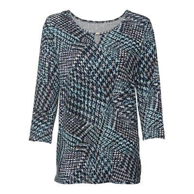 Damen-Langarmshirt mit dekorativen Ausschnitt